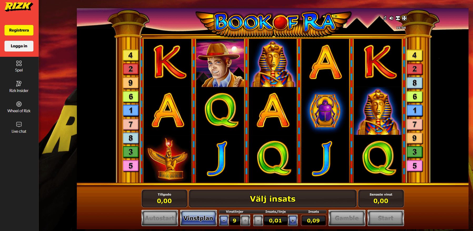 Novomatic games Available on Rizk Casino