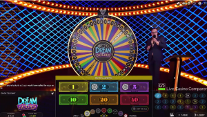 Dream Catcher casino game live