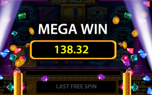 Legend of the Pharaohs slot mega win