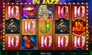 In Jazz slot symbols scatter wild