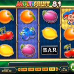 MultiFruit 81 slot wild reel feature