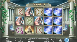 Olympus free spins feature wild reels