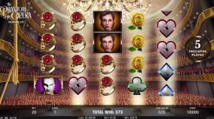 Phantom of the Opera Slot Masked Free Spins feature