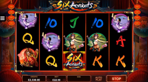 Six Acrobats slot symbols wilds