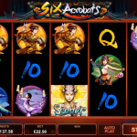 Six Acrobats online slot free spins feature