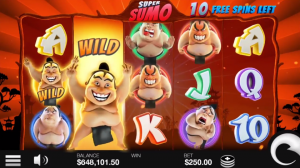 Super Sumo free spins and wild reels