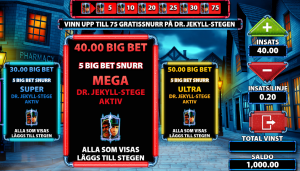 Dr Jekyll Goes Wild Slot - The 4 Big Bet Levels