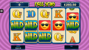 Wild Stickers feature EmotiCoins Slot