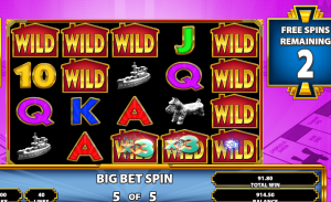 Monopoly Bring The House Down free spins feature sticky wilds