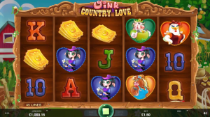 Oink Country Love slot game symbols