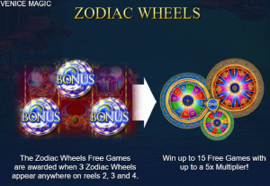 Venice Magic slot free spins wheels