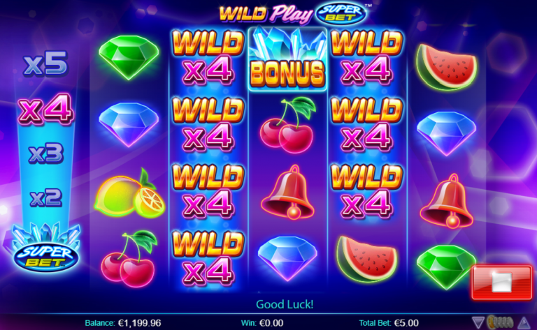 Wild Play SuperBet slot game SuperBet Feature multiplier epic win