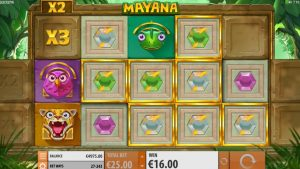 Mayana Slot expanding reels feature