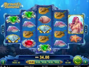 Mermaid's Diamond Slot trident wild feature