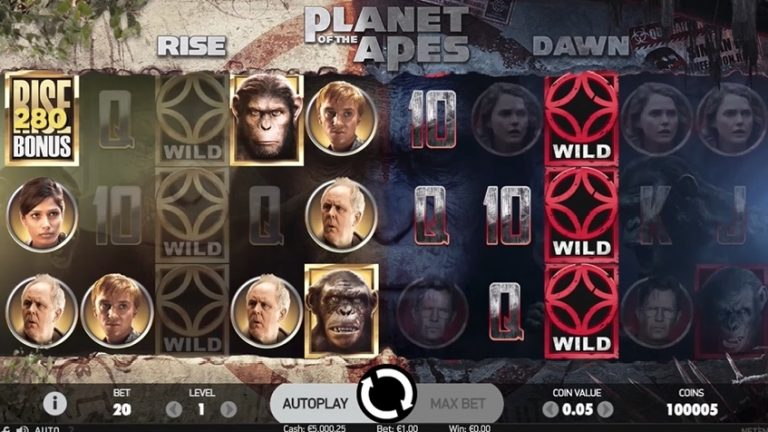 Planet of the Apes Slot dawn free spins