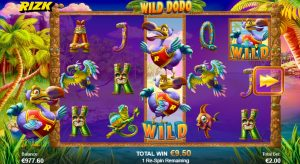 Wild Dodo re-spin feature