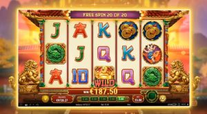 Prosperity Palace bonus feature free spins