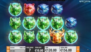 Northern Sky video slot free spins bonus re-spin feature