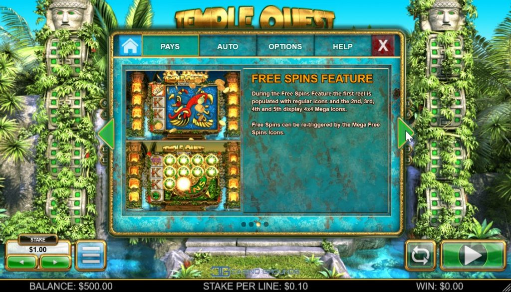 You can get additional free-spins if a free-spins mega symbol lands on the reels.