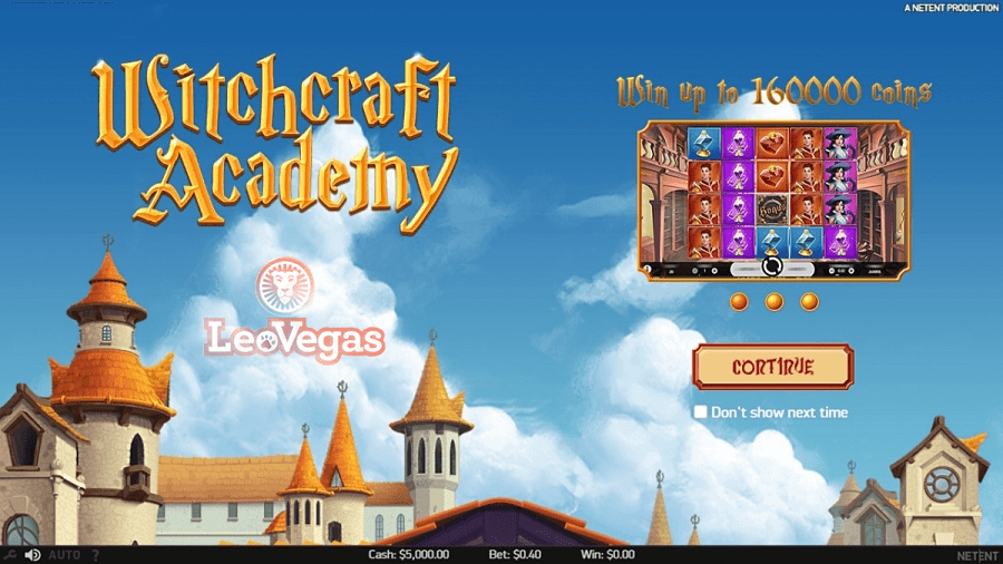 Exclusive slot release on LeoVegas – Witchcraft Academy
