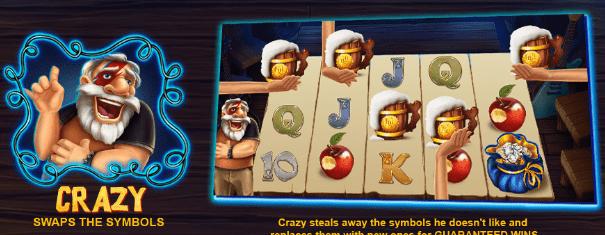 Crazy Snow wild and the seven features casinogroundsdotcom