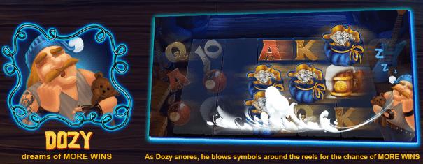Dozy Snow wild and the seven features casinogroundsdotcom