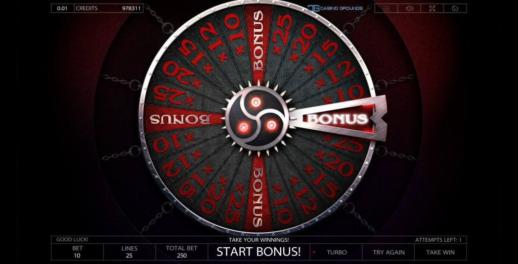 Endorphina -Taboo - wheel bonus - casinogroundsdotcom