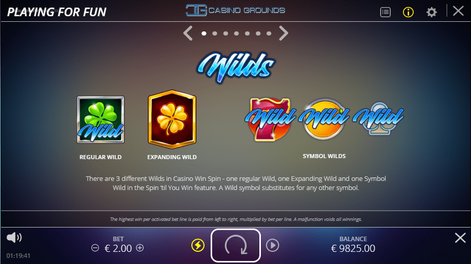 No Limit City - Casino Win Spin - Rules Wilds - Casinogroundsdotcom