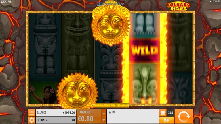 Quickspin - Volcano Riches - Welcome Screen - casinogroundsdotcom