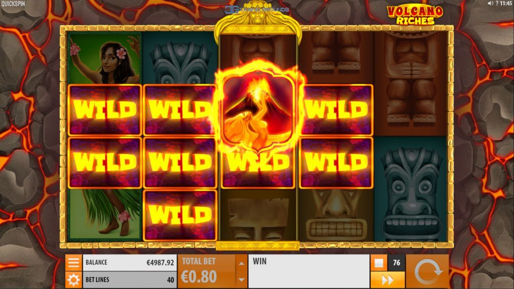 Quickspin - Volcano Riches - Volcanic Wilds 1 - casinogroundsdotcom