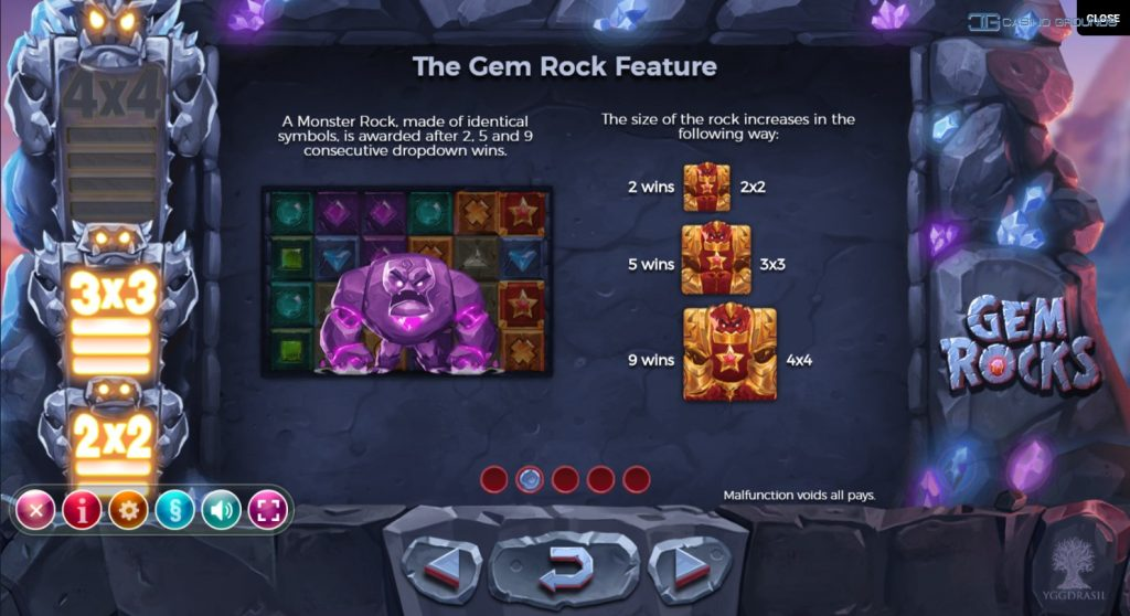 Yggdrasil - Gem Rocks - Gem Giants - casinogroundsdotcom