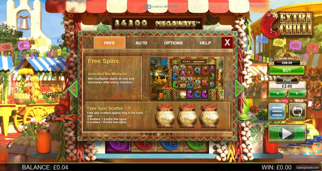 Rules - free spin scatter - Casinogroundsdotcom