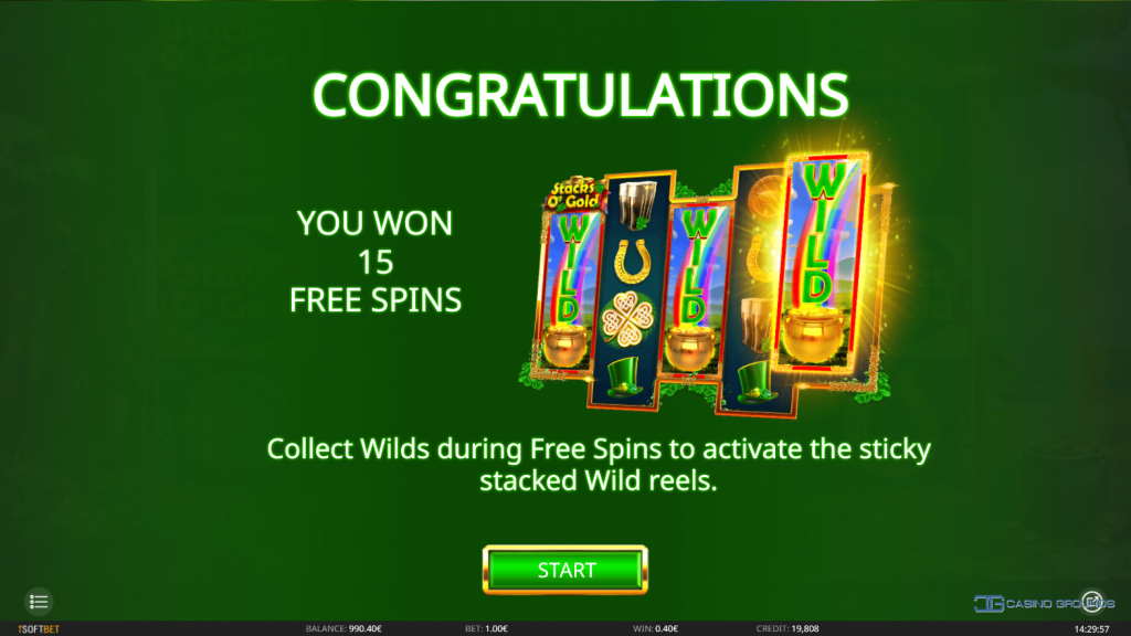Isoftbet - Stack O Gold - free-spins activated - casinogroundsdotcom