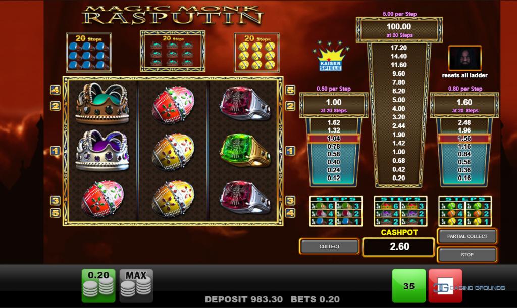 Merkur Gaming - Magic Monk Rasputin - Levels- casinogroundsdotcom