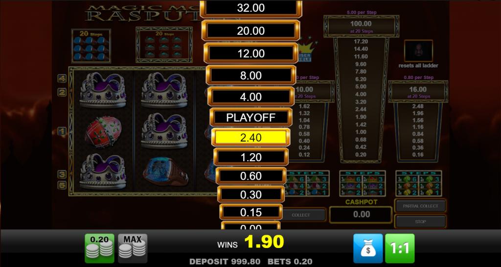 Merkur Gaming - Magic Monk Rasputin - gamble levels - casinogroundsdotcom