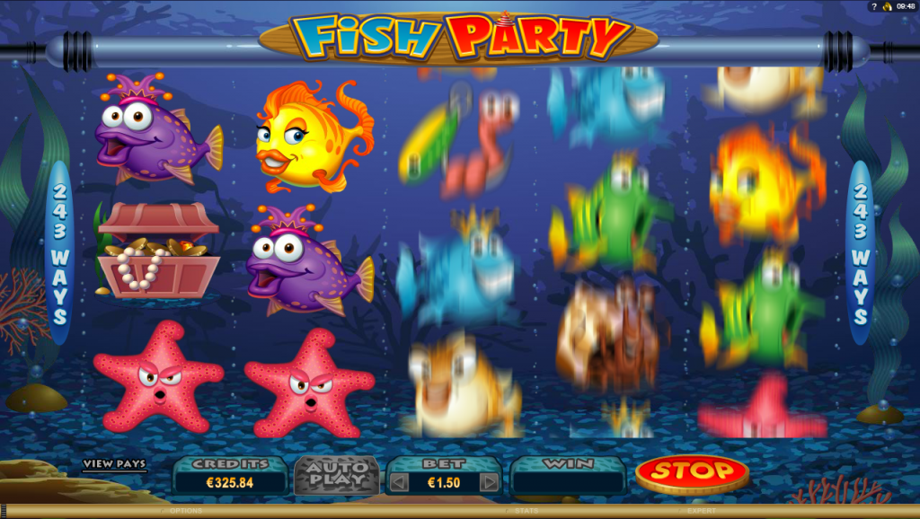 Microgaming - Fish Party - Reels Spin - casinogroundsdotcom
