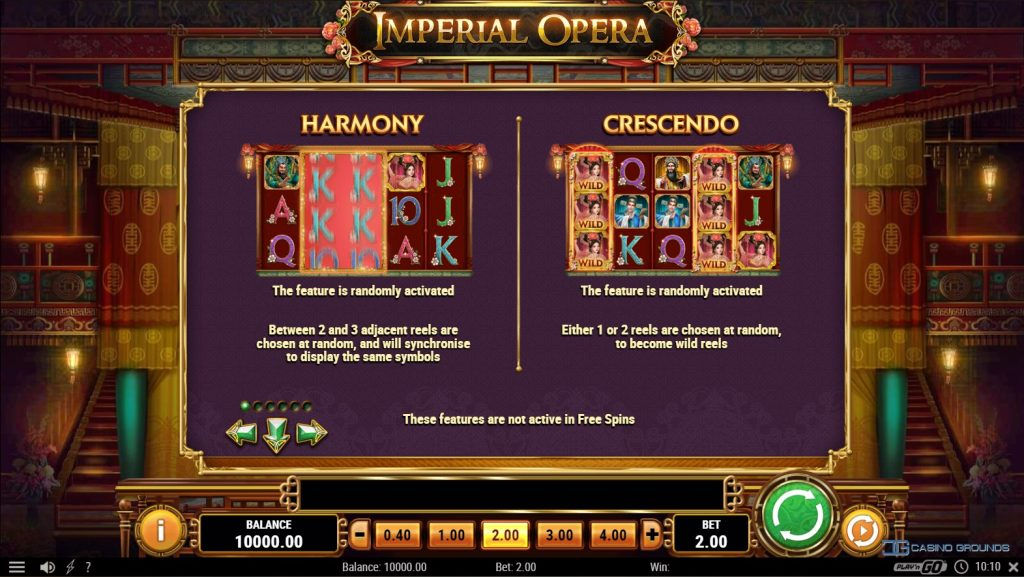 Play'n Go - Imperial Opera - Rules - Features 1 - casinogroundsdotcom