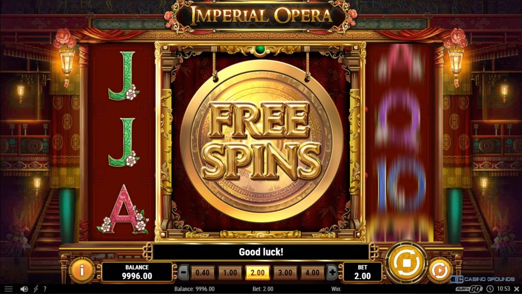 Play'n Go - Imperial Opera - free spin won - casinogroundsdotcom