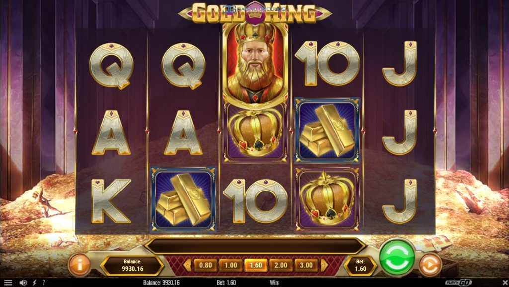 Playngo - Gold King - Reels - casinogroundsdotcom