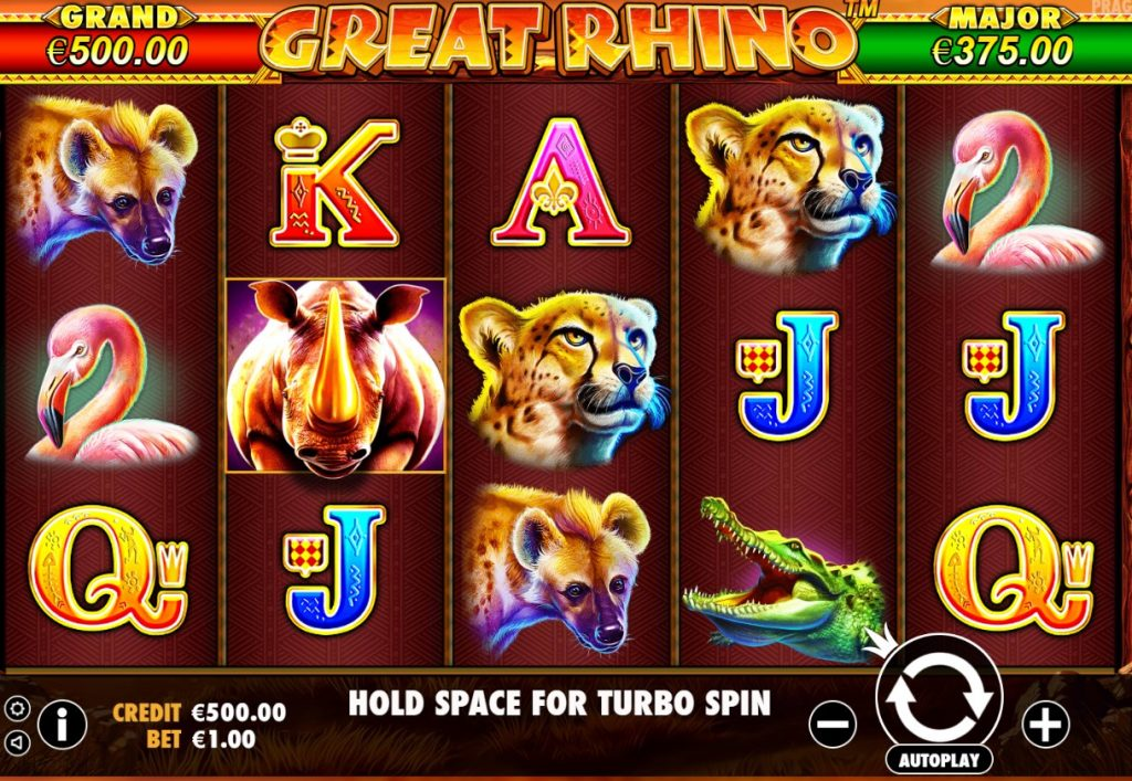 Pragmatic - Great Rhino - Spins - Casinogroundsdotcom