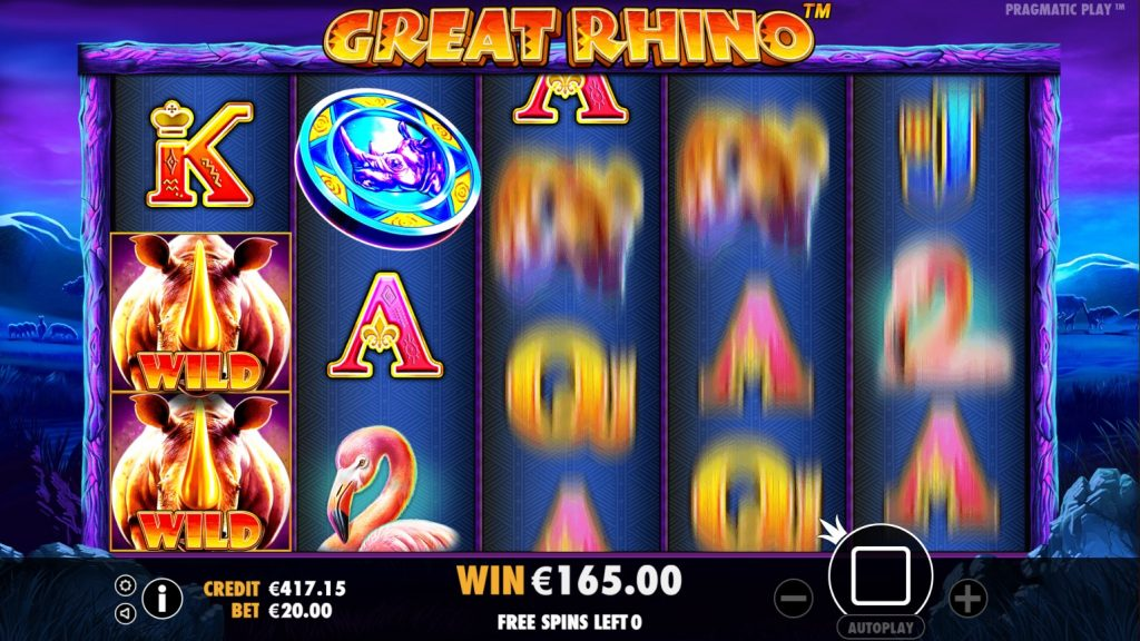 Pragmatic - Great Rhino - Spins - Free spins - Casinogroundsdotcom