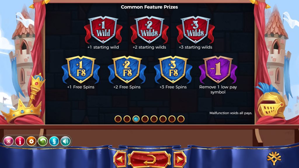 Yggdrasil - Royal Family - Rules - Feature prizes - Common - casinogroundsdotcom