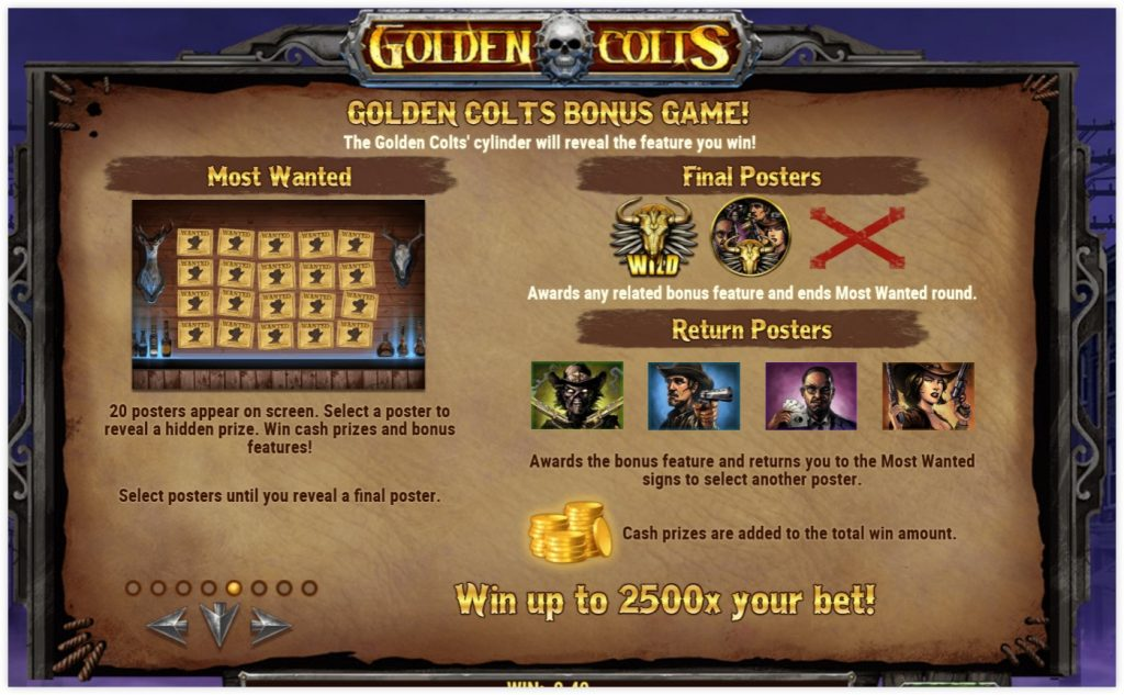 Microgaming - Golden Colts - rules features casinogroundsdotcom