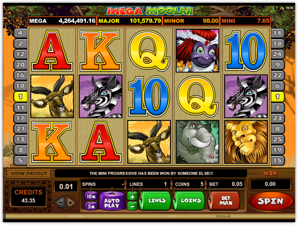 Microgaming - Mega Moolah - Reels - casinogroundsdotcom