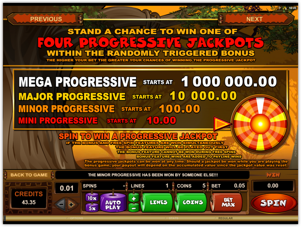 Microgaming - Mega Moolah - rules - payouts- casinogroundsdotcom