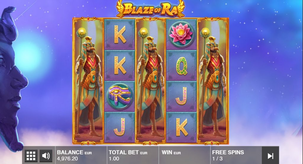 push gaming - blaze of ra- free spins- casinogroundsdotcom