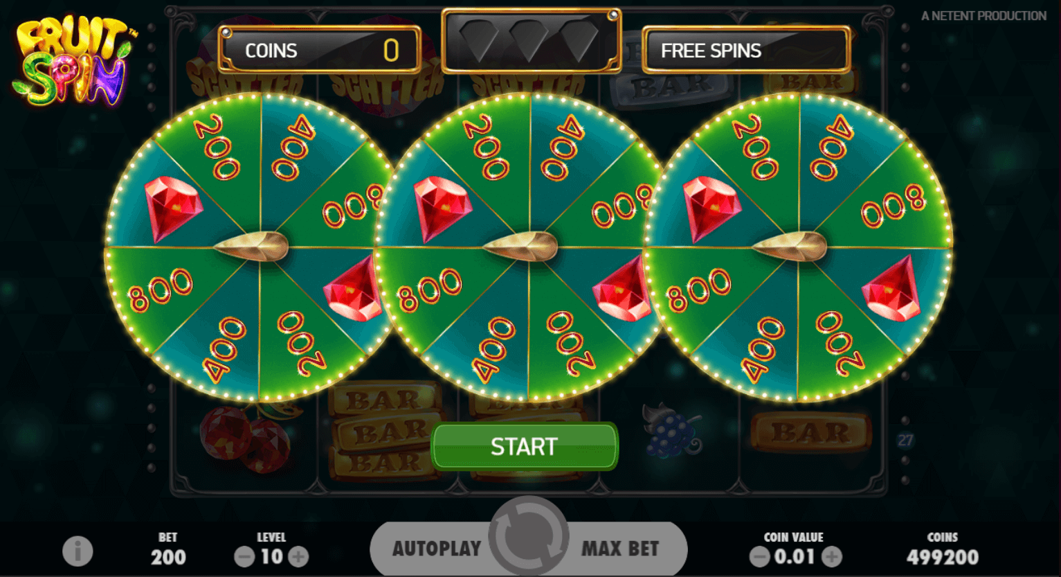 netent - fruit spin - bonus wheel- casinogroundsdotcom