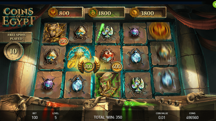 Netent - Coins of Egypt - Reels - Coin Collect - casinogroundsdotcom