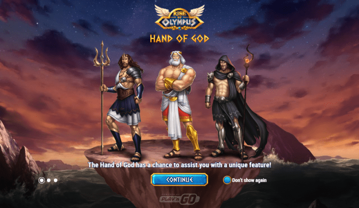Play'N Go - Rise of Olympus - Intro Hand of God - casinogroundsdotcom