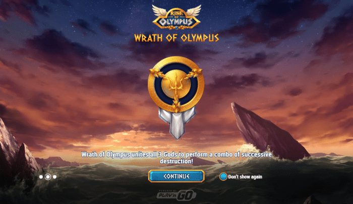 Play'N Go - Rise of Olympus - Intro wrath of olympus - casinogroundsdotcom